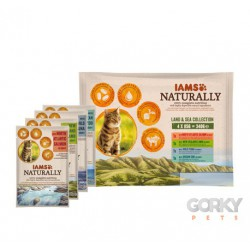 IAMS Cat Naturally Saquetas - Terra & Mar