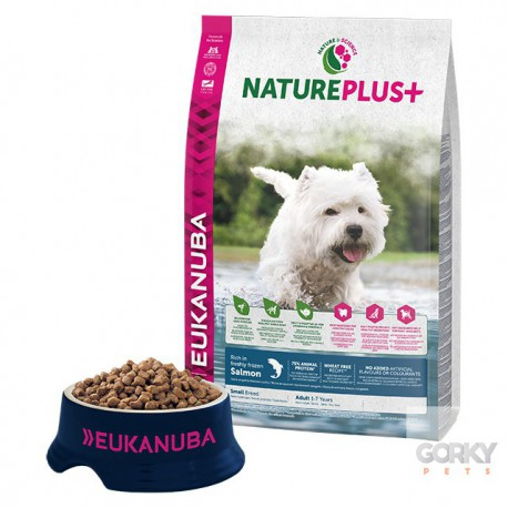 Eukanuba Nature+ Adult Small Breed - Salmão