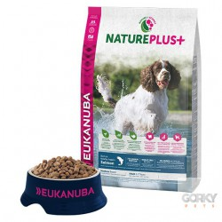 Eukanuba Nature+ Adult Medium Breed - Salmão