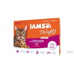 IAMS Cat Delights - Saquetas Senior Multibox
