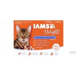 IAMS Cat Delights Jelly - Saquetas Land & Sea