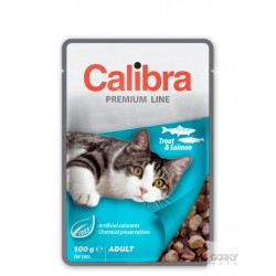 Calibra Cat Adult - Saquetas Truta & Salmão 100g