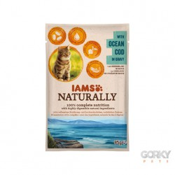 IAMS Cat Naturally - Saquetas Bacalhau