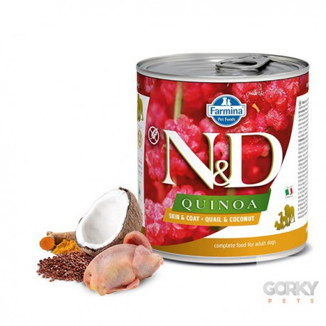 N&D Dog (GF Quinoa) - Latas Skin Coat Codorniz