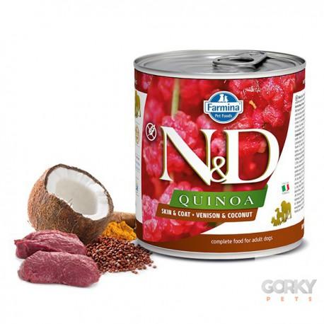 N&D Dog (GF Quinoa) - Latas Skin Coat Veado