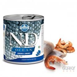 N&D Dog (GF OCEAN) - Latas Adult Arrenque & Camarão