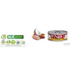 N&D Cat (GF Quinoa) - Latas Skin & Coat Cordorniz