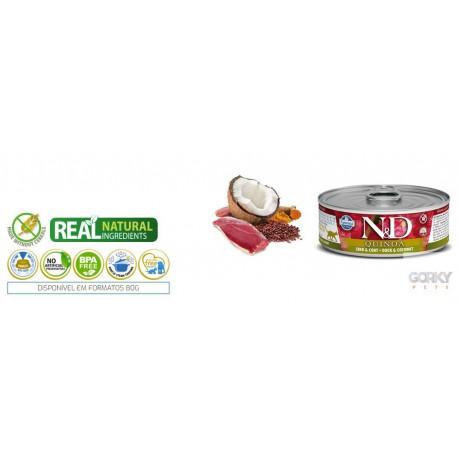 N&D Cat (GF Quinoa) - Latas Skin & Coat Pato
