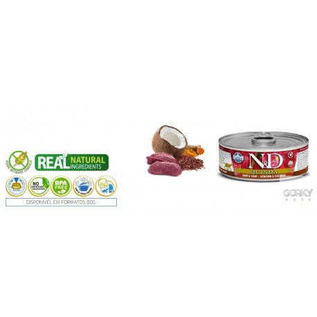 N&D Cat (GF Quinoa) - Latas Skin & Coat Veado