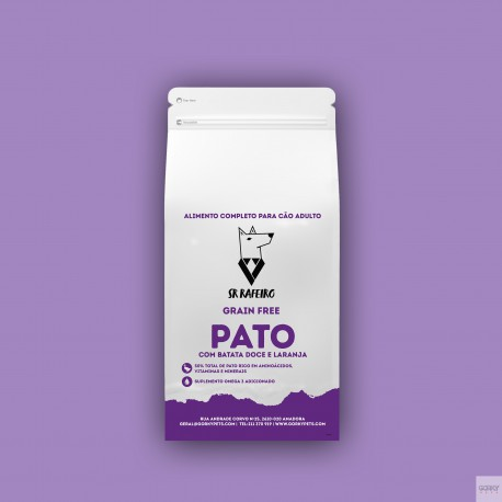Sr. Rafeiro Grain Free Adulto - Pato & Batata Doce