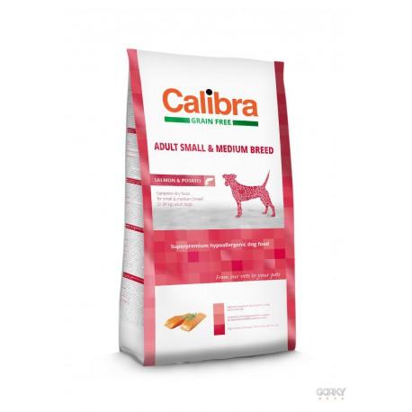 Calibra Dog GRAIN FREE Adult Small & Medium - Salmão