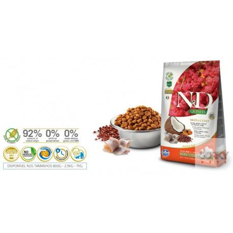 N&D Dog (GF Quinoa) Skin Coat - Arenque